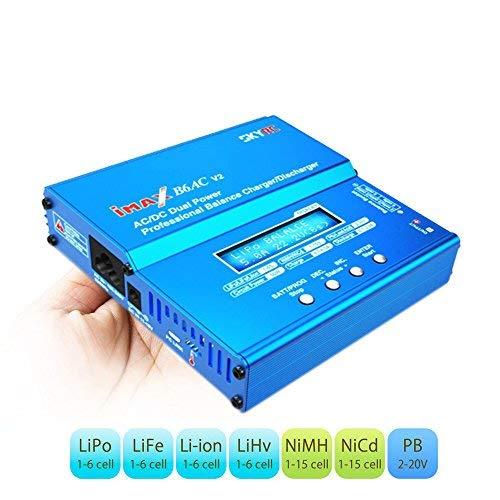 COOLWAS Genuine SKYRC iMAX B6AC V2 AC/DC Dual Power Professional LiPo Battery Balance Charger/Discharger for LiPo,LiHV,LiIon,Life,NiCd,NiMH,Pb (B6AC V2)
