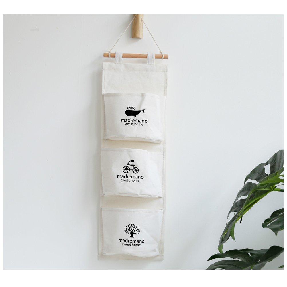 Bosillos Colgante en Puerta,Organizador para puerta de almacenamiento de acabado 3 bolsas bolso de la pared del organizador del bolso plegable