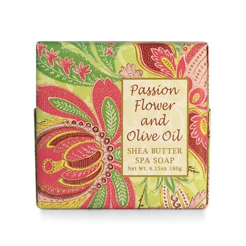 Passion Spa - Greenwich Bay PASSION FLOWER Spa Soap, Enriched with Shea Butter, Cocoa Butter and Virgin Olive Oil. No Parabens. 6.35 Oz. (1 Pack)