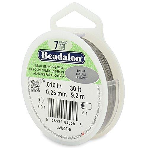 Beadalon Hilo de Acero 7 hebras 0.25 mm x9,2 m