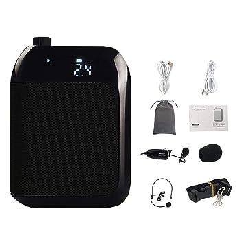 Prom-note Amplificador de Voz Inalámbrico - 2.4G 15W Portátil Recargable Altavoz del Sistema