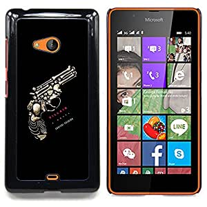 - Revolver Gull Skeleton Deep Meaning - - Snap-On Rugged Hard Cover Case Funny HouseFOR Microsoft Nokia Lumia 540 N540
