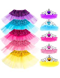 Princess Dress up Accessories Girl Gift Set Crown Dress Tiara Belle Elsa Party Favors Costume for Girls