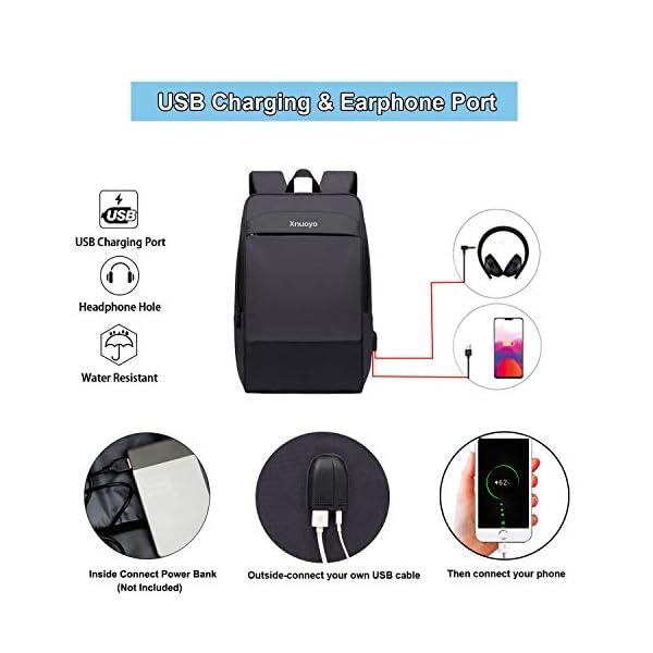 """Xnuoyo Zaino per Portatili 17.3"""" Zaino Laptop Impermeabile di Ricarica USB,Zaino per PC Portatile da Borsa per Lavoro… 2 spesavip"""