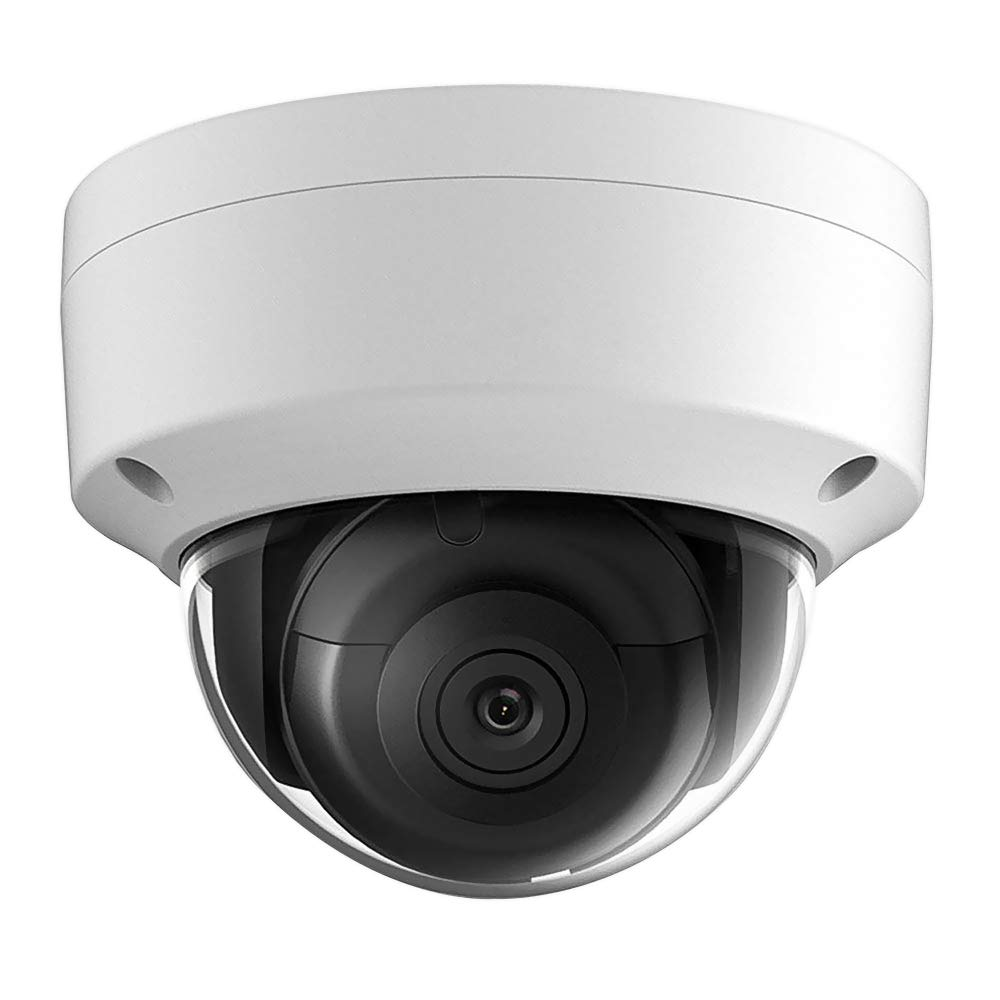 UltraHD 8MP 4K Outdoor Security PoE IP Camera OEM DS-2CD2185FWD-I, 2.8mm Fixed Lens, 3840 2160 Resolution Dome Network Surveillance Camera, 30m Night Vision, Micro SD Card Slot H.265 ,IP67,ONVIF,IK10