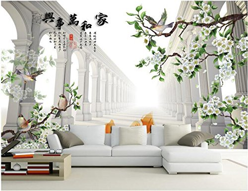 LWCX-3D-Wallpaper-Custom-Mural-Silk-cloth-3d-Figure-Tv-Setting-Wall-Painting-Flowers-And-Birds-Murals-Photo