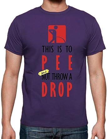 latostadora - Camiseta para Mear y No Echar Gota para Hombre Morado L: jjgn: Amazon.es: Ropa y accesorios