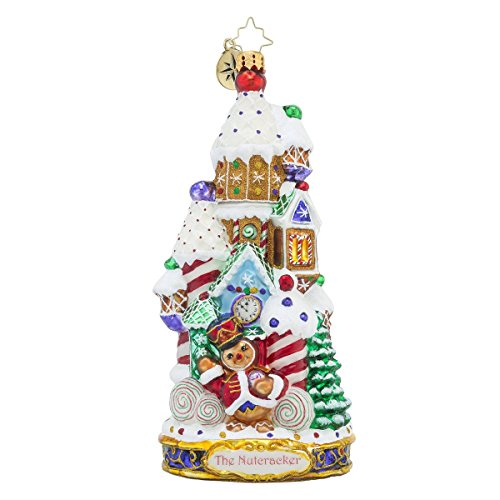 Christopher Radko the Land of Sweets Candy and Gingerbread Themed Glass Christmas Ornament - Nutcracker Series - New for 2016 - 7