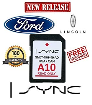 Ford Lincoln A10 SYNC SD Card Navigation 2019 US Canada Map Updates A9 A8 A7 A6 A5