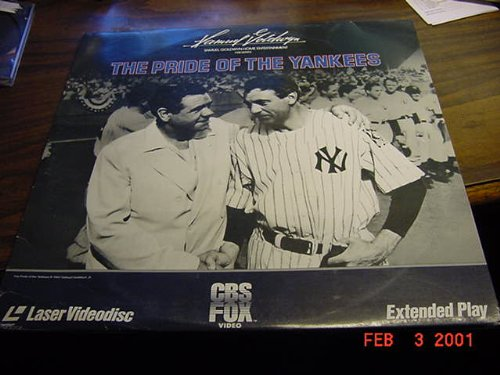 Laserdisc, Laser Disc of THE PRIDE OF THE YANKEES With Gary Cooper, Teresa Wright, Walter Brennan and Babe Ruth.