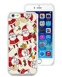 Popular Sell Design iPhone 6 Case,Cartoon Santa Claus White iPhone 6 4.7 Inch TPU Case 1