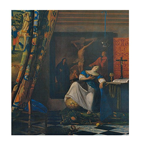Vermeer Allegory Of Faith Wood Print Wall Art Wall Decor - 20''x24'' by Style in Print