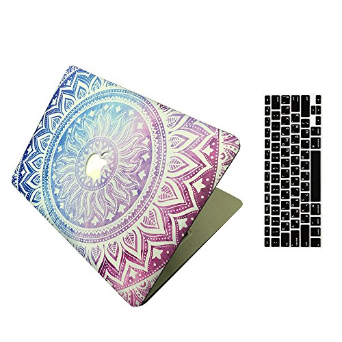 MacBook 12'' Case and Keyboard Cover, AICOO Beautiful Hard Case Cover With Keyboard Protector For MacBook Retina Display 12 inch(The...