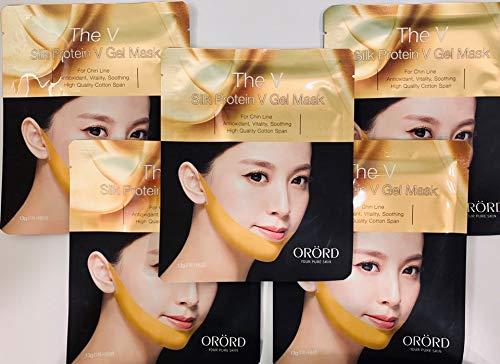 [ORORD]Korean Facial Lifting Mask The V Silk Protein V Gel Firming Mask – Anti Cellulite Premium 5 Sheets