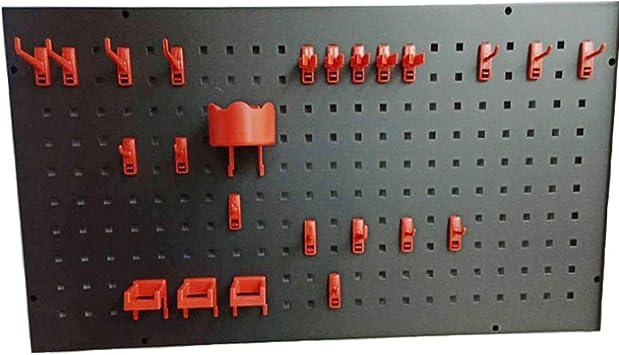 Panel Metálico Perforado,Panel Perforado Para Herramientas De Metal Con Accesorios Estante Y Gancho Surtido,Tablero Perforado Para Herramientas Para Oficina En Hogar Y Lugar Trabajo(900 × 450 Mm),A: Amazon.es: Bricolaje y herramientas