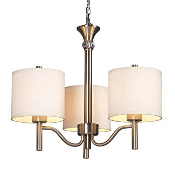 Galaxy Lighting 813041BN 3 Light Ansley Chandelier Brushed