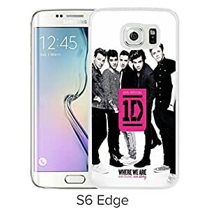 Lovely and Nice Samsung Galaxy S6 Edge Case Design with One Direction White Case for Samsung Galaxy S6 Edge