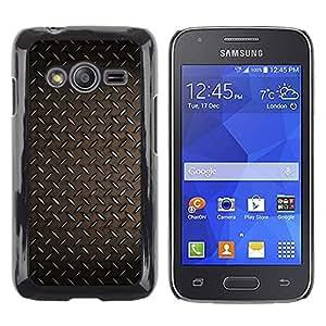 Be Good Phone Accessory // Dura Cáscara cubierta Protectora Caso Carcasa Funda de Protección para Samsung Galaxy Ace 4 G313 SM-G313F // Pattern Metal Plate Rustic Iron Wallpaper