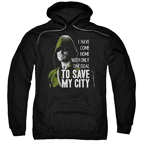 Save My City -- CW's Arrow - The Television Series Adult Hoodie Sweatshirt, Small ()