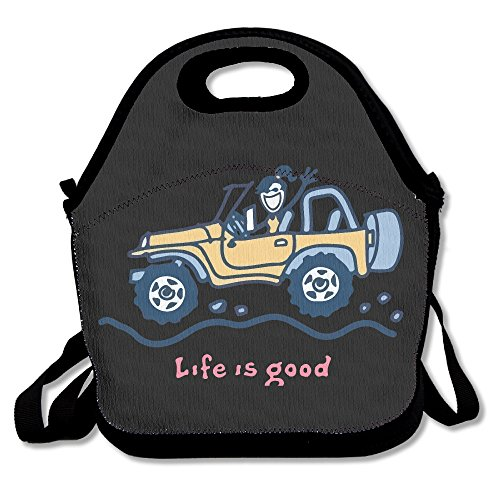 Jeep Life Is Good Lunch Box Bag For Kids And Adult,lunch Tote Lunch Holder With Adjustable Strap For Men Women Boys Girls,This Design For Portable, Oblique Cross,double Shoulder (Life Good Is Jeep)