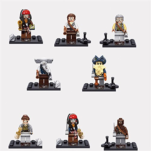 Black Girl From Pirates Of The Caribbean (Shalleen 8Pcs/lot Pirates of the Caribbean minifigures Captain Jack Sparrow Davy Jones)