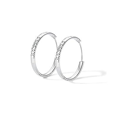8e0f142b108e8a T400 925 Sterling Silver Hoop Earrings Large Circle Endless Sleeper Hoops  for Women,Size: 25 35 45 55 65mm: Amazon.co.uk: Jewellery