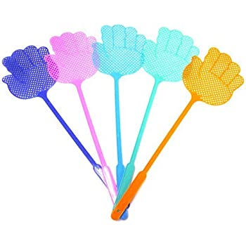 Pest Control Fly Swatter, Assorted Colors, 5 Pack