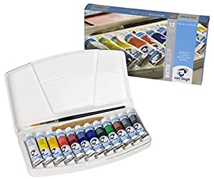 Talens Van Gogh Watercolor, 10ml, 12 Tube Pocket Box Set by Talens