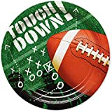 American Greetings Superbowl Football Party Supplies, Round Paper Dinner Plates (50-Count)