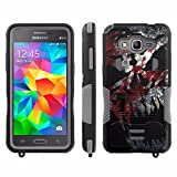 [ArmorXtreme] Case for SAMSUNG GALAXY GRAND PRIME G530 [Black/Gray] [Xtreme Armor Combat Duty Case with KickStand] - [Hardcore Master]