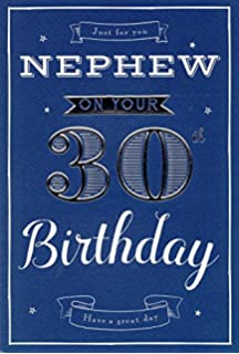 Nephew 30th Birthday Card with removable Laminate Amazoncouk