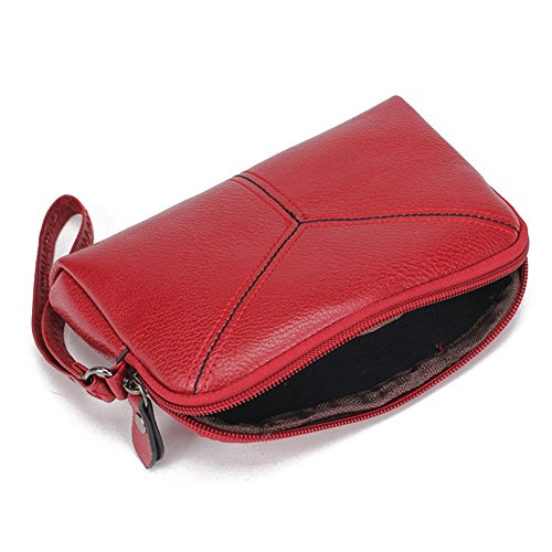 Coin Pochette Carta Multifunzione Telefono Pelle Donna Amazingdeal365 Borsa Rosso Mini Moda Nero Pu fqFWHa