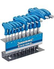 Silverline 323710 Sexkantsnyckel med Handtag Set, 10 Delars, 2–10 mm, Blå
