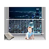 Fairy Baby Window Guards for Children Hole-Free Installation Todder Safety Window Gate Bars White,61.41''-86.61''