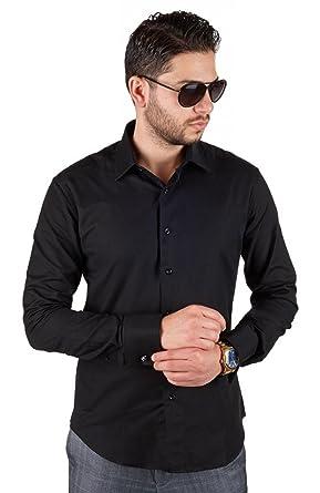 AZAR MAN New Men's French Cuff Tailored Slim Fit Spread Collar ...