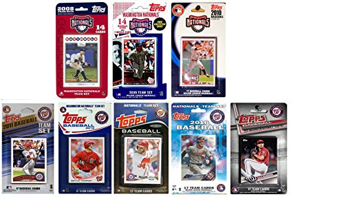 C&I Collectables MLB Washington Nationals Men's 8 Different Licensed Trading Card Team Sets, White from C&I Collectables