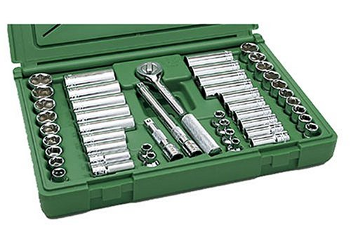 SK Hand Tool 94547 Deep Socket Set – 47 piece Metric Tools, Durable, Corrosion Resistant. Standard Fractional Impact Sockets