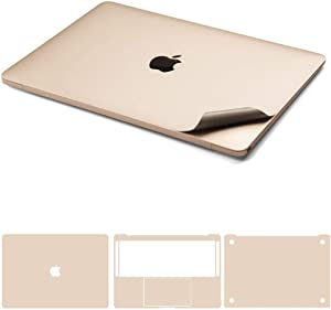 """Leze - 5-in-1 Full Body Cover MacBook Skin Protector Decals Sticker for Apple MacBook Air 13-inch 13.3"""" A1466 & A1369 - Gold"""