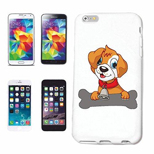 """cas de téléphone iPhone 7+ Plus """"PUPPY DOG SMALL AVEC CHIOTS BELL ET BIG BONE DOG HOUSE YOUNG CHIENS"""" Hard Case Cover Téléphone Covers Smart Cover pour Apple iPhone en blanc"""