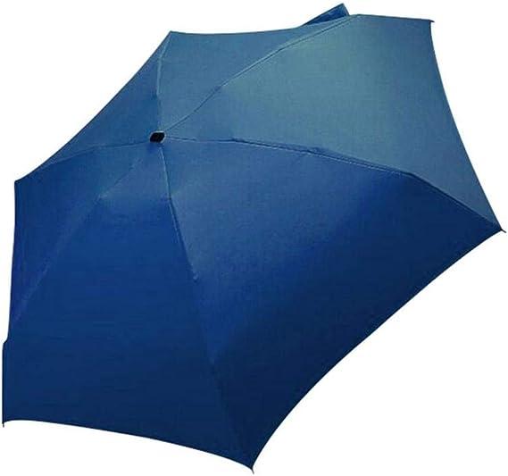 Paraguas luz Paraguas Plano 5 Sol Plegable Mini Paraguas Plegable Pareja Mango Corto Paraguas a Prueba de Viento@Sol: Amazon.es: Deportes y aire libre