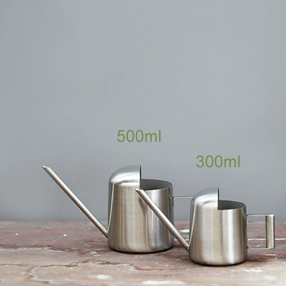 Watering Can Stainless Steel Watering Pot Long Mouth Design for Plants Houseplant Patio Plants Hanging Plants and Outdoor Gardens(300ml) Fdit