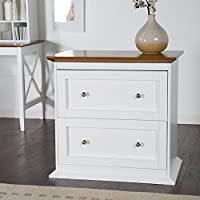 Belham Living Hampton 2-Drawer Lateral Wood File Cabinet - White/Oak