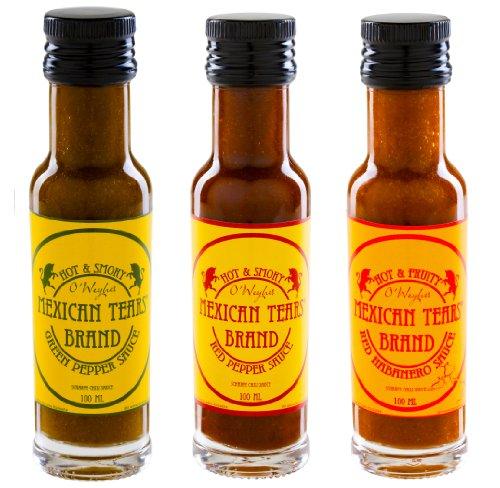 Mexicaanse Tears® – 3-delige set, scherpe sauzen van Habaneros en chipotle [3x100ml Chilisauce]