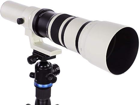 Vbestlife Teleobjetivo de cámara, 500mm F6.3-32 Enfoque Manual ...