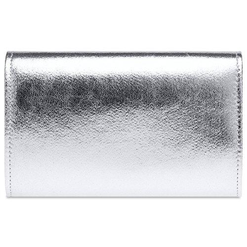 Soirée Ta424 Argenté Pochette Métallique sac Femme Pour clutch En Caspar D'enveloppe De Stylée Forme RtBqwdZZx