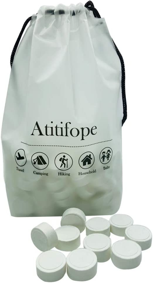 Atitifope 100PCS Compressed Towels Facial Cleansing Cloths Travel Reusable Washcloths Camping Towels: Kitchen & Dining
