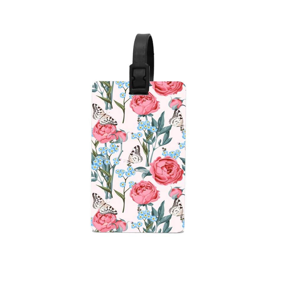 Luggage Tag for Women Men Tropical Flowers Bladeren Travel Baggage ID Suitcase Labels Accessories Material PVC Flamingo