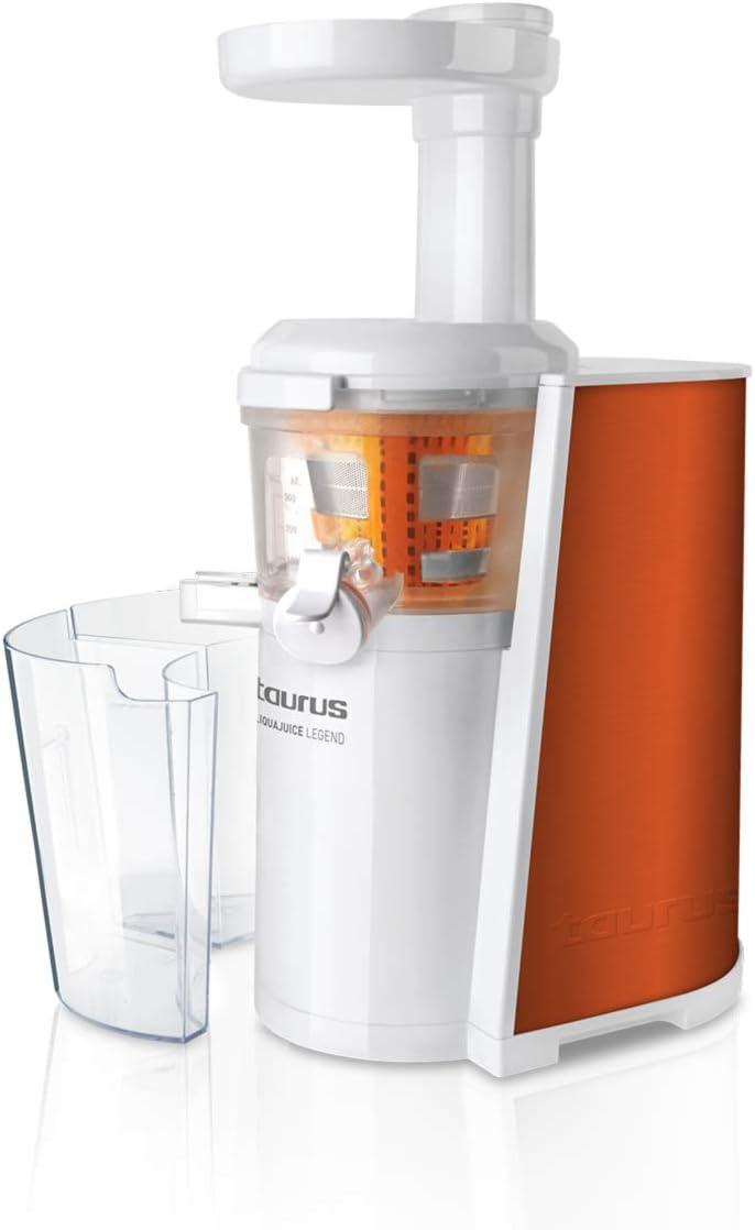 Taurus LS-670 Licuadora Extracción en Frío (150 W, 80 Rpm, Sistema Antigoteo, Cuerpo en Acero Inoxidable)