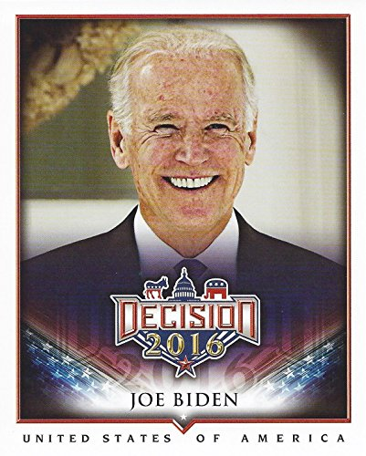 JOE BIDEN Leaf Decision 2016 Checklist BOX TOPPER Rare Collectible Large 4X6 Jumbo Presidential Campaign Trading Card #J12