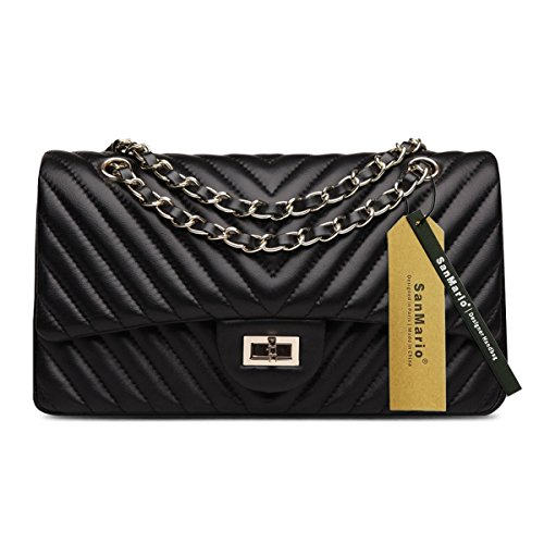 quilted leather handbags - 3
